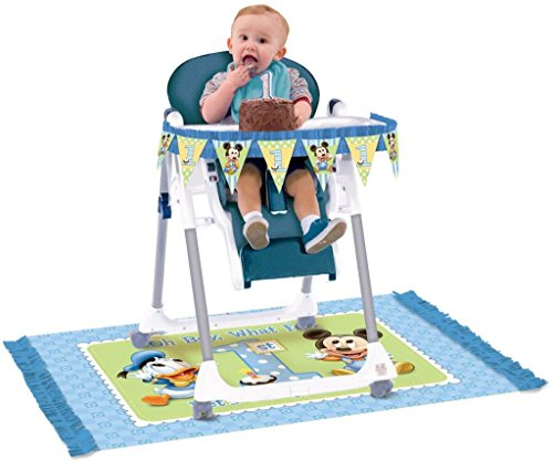Disney Mickey 1st Birthday High Chair Decorating Kit - 1