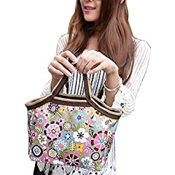 Bestpriceam® Fashion Portable Flower Lunch Bags Lunch Packet Lunch Food Storage Bags
