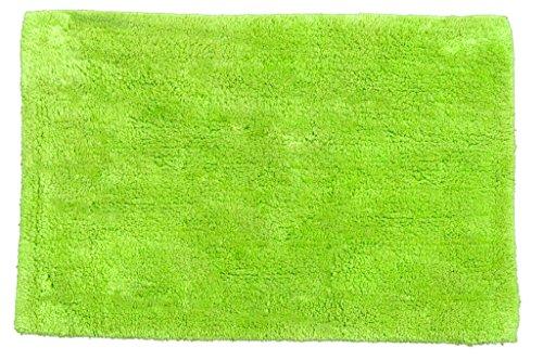 Janey Lynn's Designs Shaggie Reversible Bath Mat/Bath Rugs, Limealicious