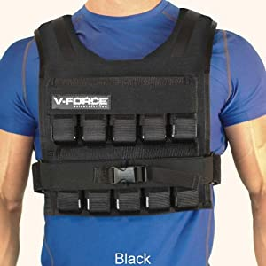 100 Lb. V-Force Short Weight Vest - Made in USA by Weight Vest