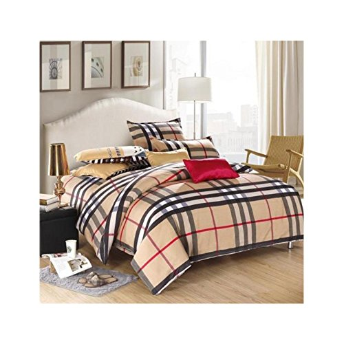 British England Sing Double Queen King Size Bed Set Pillowcase Quilt Duvet Cover (King) (British Duvet compare prices)