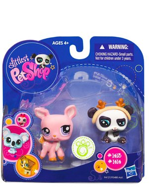 Buy Low Price Hasbro Littlest Pet Shop 2010 Assortment 'B' Series 2 Collectible Figure Deer & Panda Bear (B0037YOHOG)