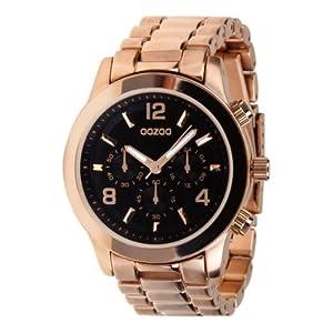 oozoo damen armbanduhr edelstahl c4649 rose gold black. Black Bedroom Furniture Sets. Home Design Ideas