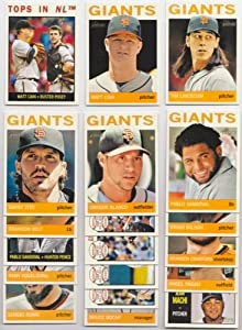 San Francisco Giants 2013 Topps Heritage Baseball Team Set by Topps