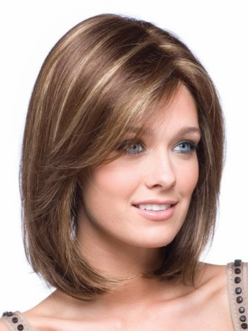 TRENDS® TR0010 Fashion Style Synthetic Short Layered Wigs -For Bald Women +A Free Wig Cap