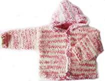 KSS Pink/White Hooded Sweater/Jacket 12 Months SW-067