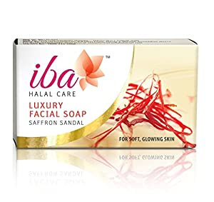 Iba Halal Care Luxury Facial Soap Saffron Sandal, 25g (Pack of 2)
