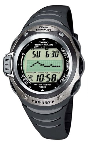 Casio Pro Trek PRG-100-1AVER Men's Digital Quartz Multifunction Watch with Rubber Strap