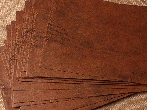 50pz-buste-da-lettera-formato-1611cm-110-g-mq-carta-kraft-carattera-antichi-vintage