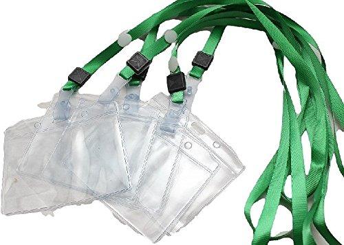 大量 セット 首かけ 名札 ネック ストラップ クリップ 付き イベント 受付 記名 会議 パーティー (k 緑 30枚 セット)