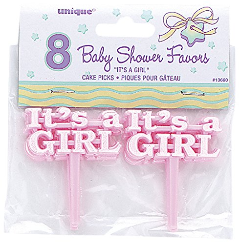 Party Favors Picks 8/Pkg-Pink It's A Girl