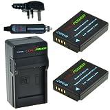 Original ChiliPower DMW-BCG10, DMW-BCG10E, DMW-BCG10PP 1000mAh Battery 2-Pack + Charger (UK Plug) for Panasonic Lumix DMC-3D1, DMC-TZ6, DMC-TZ7, DMC-TZ8, DMC-TZ10, DMC-TZ18, DMC-TZ19, DMC-TZ20, DMC-TZ25, DMC-TZ30, DMC-TZ35, DMC-ZR1, DMC-ZR3, DMC-ZS1, DMC