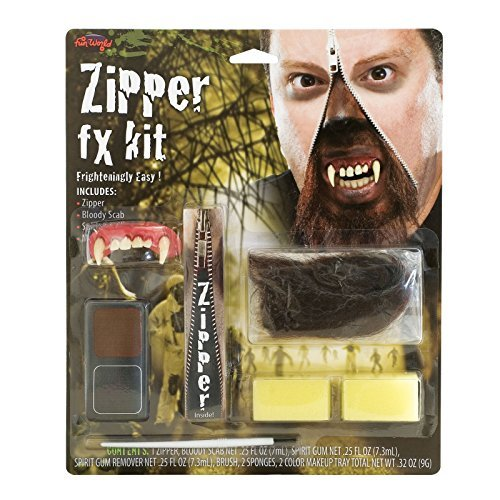 [Halloween Deluxe Zipper FX Kit Warewolf rsp 9.99 for Fancy Dress by Wicked] (Zipper Fx Kit)