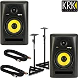 Pair KRK RP6 G2 Rokit Powered Studio Monitor Bundle