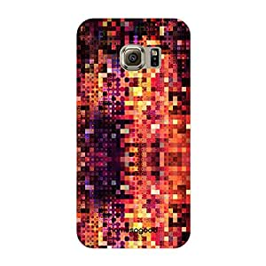 HomeSoGood Colorful Diffusing Blocks Multicolor 3D Mobile Case For Samsung S6 Edge ( Back Cover)