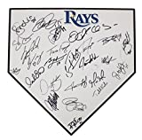 Tampa Bay Rays 2013 Team Autographed Signed Home Plate 27 Signatures