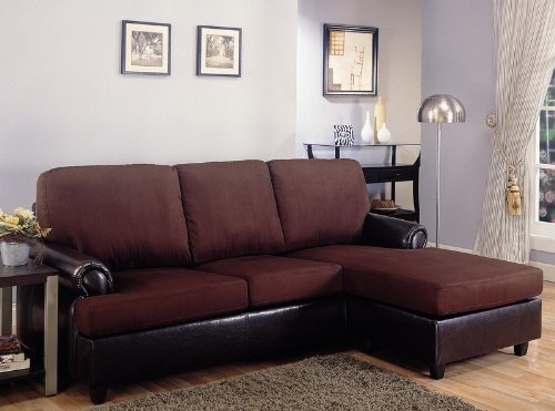 Thomasville leather sectionals reversable sectional sofa for Brown microfiber sectional with chaise