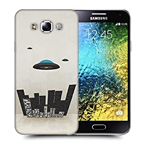 Snoogg Spaceship Printed Protective Phone Back Case Cover ForSamsung Galaxy E5