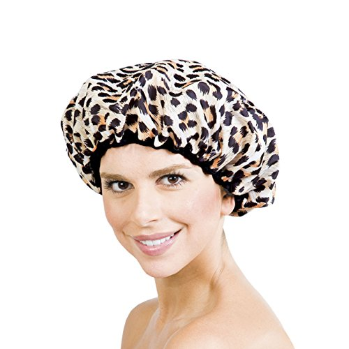 Betty Dain Socialite Collection Terry Lined Shower Cap, Safari Spots (Shower Cap Terry Lined compare prices)