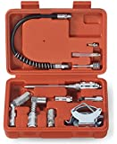 Tooluxe® 61077L Grease Gun and Lubrication Accessory Kit | Multi-Function with Case