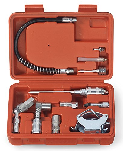 Tooluxe 61077L Grease Gun and Lubrication Accessory Kit | Multi-Function with Case (Needle Grease Gun compare prices)
