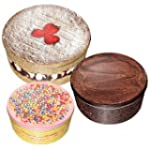 Cake Tins - Set of 3 decorative round...