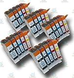 25 Chipped Compatible Canon PGI-5 & CLI-8 Ink Cartridges for the Canon Pixma MP800 Printer