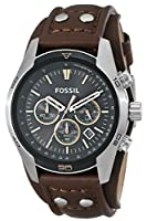 Fossil CH2891 Watches, Men's Coachman Chronograph Leather Watch - Brown by Fossil