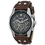 Fossil CH2891 Watches, Men's Coachman Chronograph Leather Watch - Brown