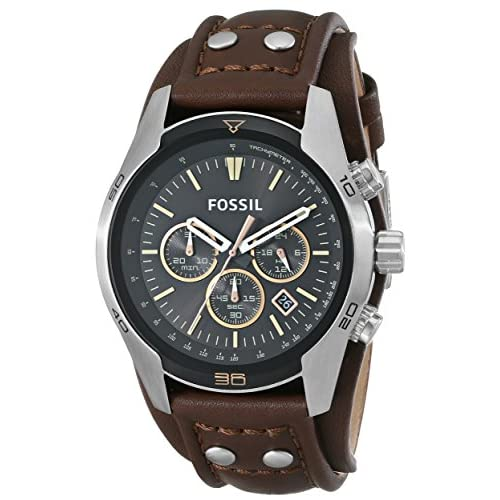 Fossil-CH2891's Chronograph Watch Quartz Chronograph Brown Leather Strap