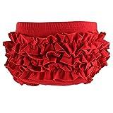 Wennikids - Braguitas bordadas - para bebé niña Rojo rosso