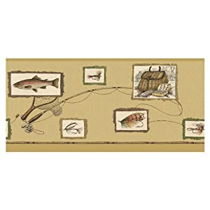 "IMPERIAL 8-1/2"" The Fisherman Prepasted Wallpaper Border"