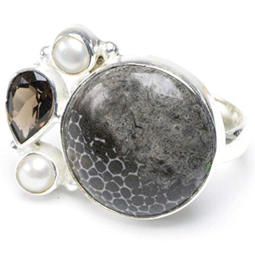 stargems-tm-natural-leopard-skin-jasper-quartz-fume-et-perle-riviere-design-unique-bague-en-argent-s
