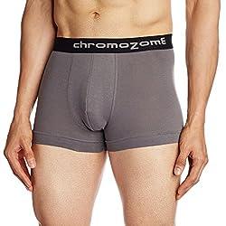 Chromozome Men's Cotton Boxer (8902733316880_FN04_Small_Pewter)