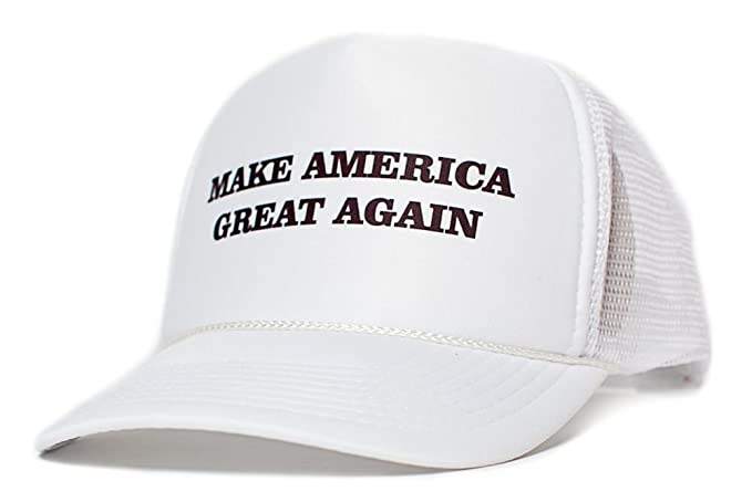 Make America Great Again Trump 2016 Unisex-Adult One size Hat White/White