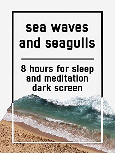 Sea waves and seagulls, 8 hours for Sleep and Meditation, dark screen