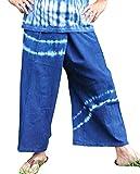 (クリスプ) KURISP 天然 藍染 インディゴ タイパンツ ロング 男女兼用
