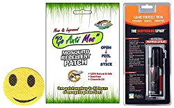Combo of Go Color Mosquito Repellant Patch & The Bodyguard Spray Pepper Spray