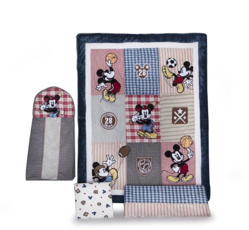 Cheap Vintage Mickey 4 Piece Baby Crib Bedding Set reviews