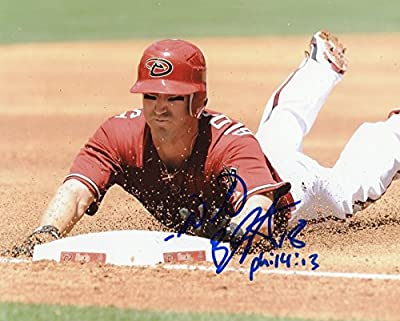 Willie Bloomquist Sliding Arizona Diamondbacks Autographed Signed 8x10