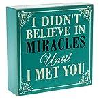 Believe In Miracles Block Art