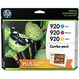 HP 920 Cyan/Magenta/Yellow Original Ink Cartridge Combo Bonus Pack