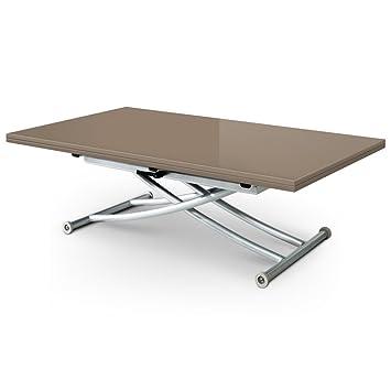 menzzo b2219 contemporain contemporain carrera xl table basse relevable bois inox laqu. Black Bedroom Furniture Sets. Home Design Ideas