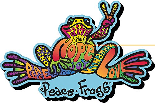 magnet-peace-frogs-words-funky-chunky-new-licensed-95455