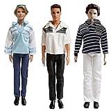 3 Set Ken Fashion Clothes - Handmade Summer Casual Clothes Set For Barbie Boyfriend Ken Dolls Set C