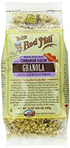 Bobs Red Mill Cinnamon Raisin Granola, 12-Ounce (Pack of 4)