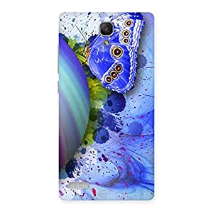 Blue Shell Butterfly Back Case Cover for Redmi Note Prime