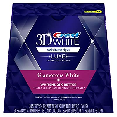 Crest 3D White Luxe Whitestrips Glamorous White - Teeth Whitening Kit 14 Treatments (Packaging may vary)
