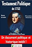 Testament Politique de 1752 de Fr�d�ric II de Prusse