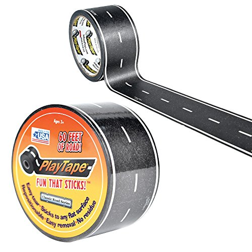 Inroad Toys PlayTape Classic Road Series Road, Black, 60' x 2""
